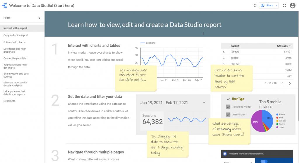de ce sa folosesti Google data studio