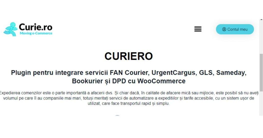 plugin integrare servicii de livrare woocommerce curiero