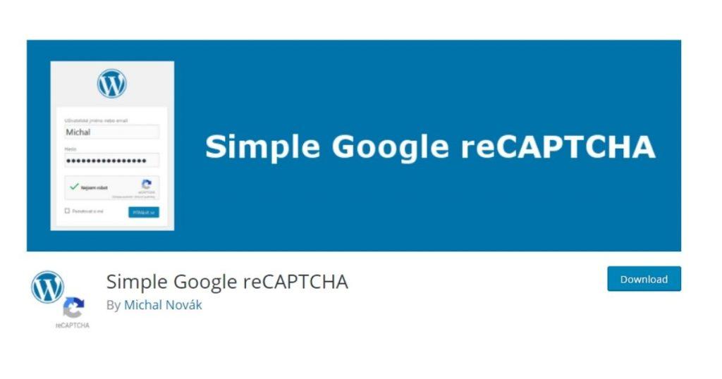 simple google recaptcha plugin